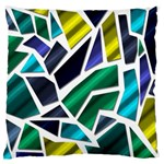 Mosaic Shapes Large Flano Cushion Case (One Side) Front