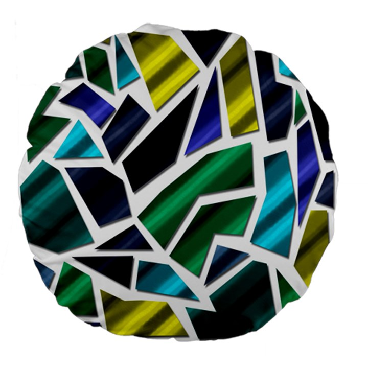 Mosaic Shapes Large 18  Premium Flano Round Cushions
