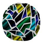 Mosaic Shapes Large 18  Premium Flano Round Cushions Back