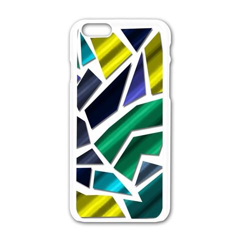 Mosaic Shapes Apple iPhone 6/6S White Enamel Case