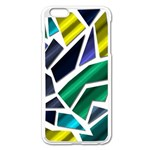 Mosaic Shapes Apple iPhone 6 Plus/6S Plus Enamel White Case Front