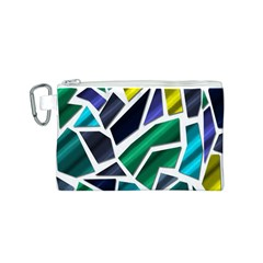 Mosaic Shapes Canvas Cosmetic Bag (S)