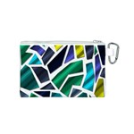 Mosaic Shapes Canvas Cosmetic Bag (S) Back