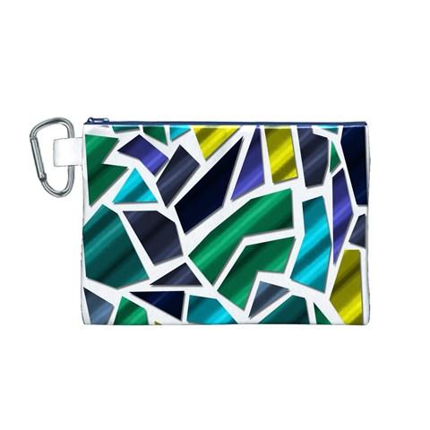 Mosaic Shapes Canvas Cosmetic Bag (M)