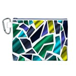 Mosaic Shapes Canvas Cosmetic Bag (L) Front