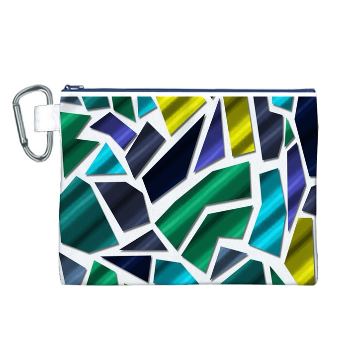 Mosaic Shapes Canvas Cosmetic Bag (L)
