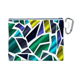 Mosaic Shapes Canvas Cosmetic Bag (L) Back