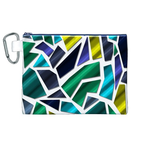 Mosaic Shapes Canvas Cosmetic Bag (XL)