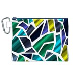 Mosaic Shapes Canvas Cosmetic Bag (XL) Front