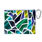 Mosaic Shapes Canvas Cosmetic Bag (XL) Back