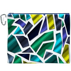 Mosaic Shapes Canvas Cosmetic Bag (XXXL)