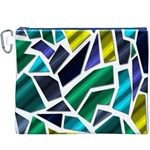 Mosaic Shapes Canvas Cosmetic Bag (XXXL) Front