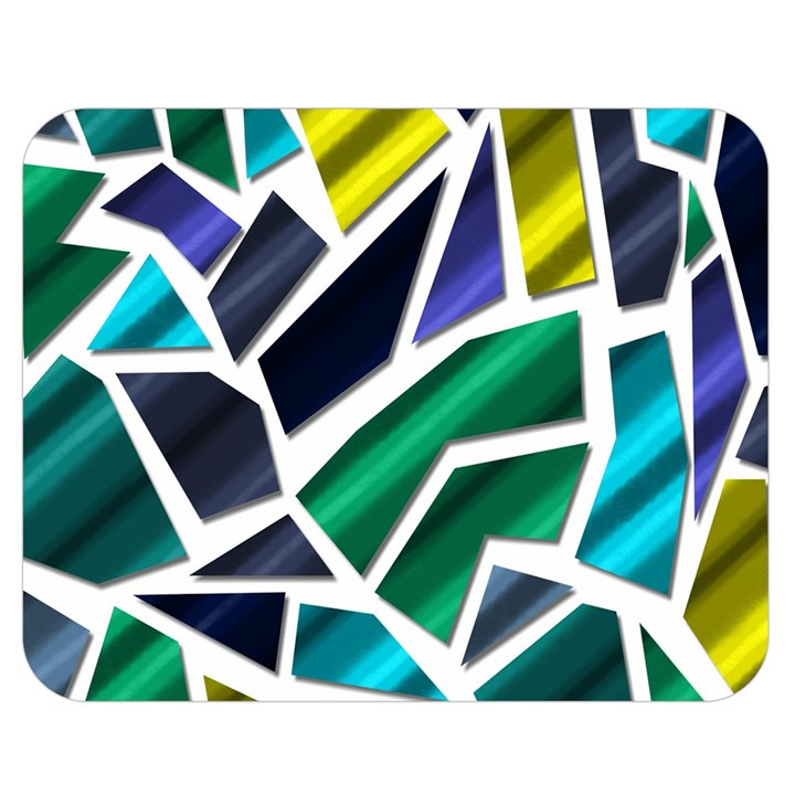 Mosaic Shapes Double Sided Flano Blanket (Medium)