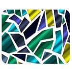 Mosaic Shapes Double Sided Flano Blanket (Medium)  60 x50 Blanket Back