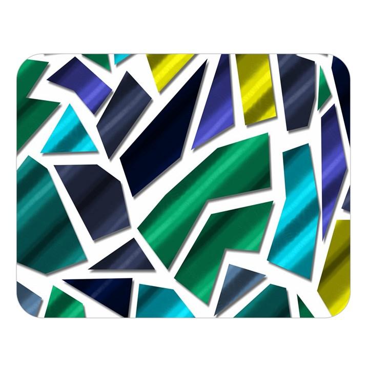 Mosaic Shapes Double Sided Flano Blanket (Large)
