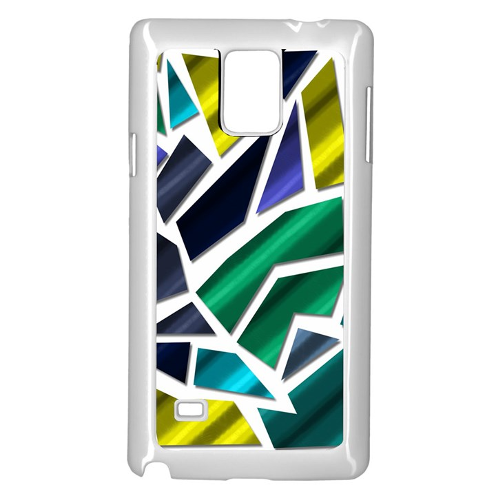 Mosaic Shapes Samsung Galaxy Note 4 Case (White)