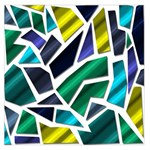 Mosaic Shapes Large Satin Scarf (Square) Front