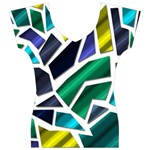 Mosaic Shapes Women s V-Neck Cap Sleeve Top Front