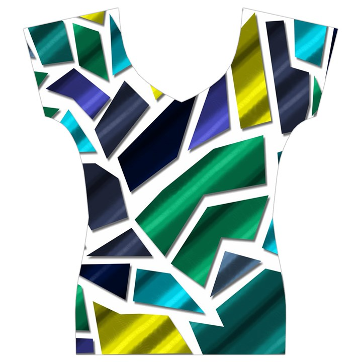 Mosaic Shapes Women s V-Neck Cap Sleeve Top