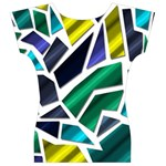 Mosaic Shapes Women s V-Neck Cap Sleeve Top Back