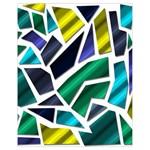 Mosaic Shapes Drawstring Bag (Small) Front