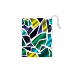 Mosaic Shapes Drawstring Pouches (XS)  Front