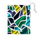 Mosaic Shapes Drawstring Pouches (Extra Large) Front