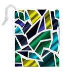 Mosaic Shapes Drawstring Pouches (Extra Large) Back