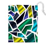 Mosaic Shapes Drawstring Pouches (XXL) Front