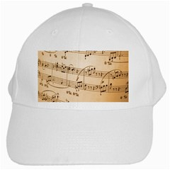 Music Notes Background White Cap