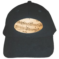 Music Notes Background Black Cap