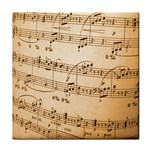 Music Notes Background Tile Coasters Front