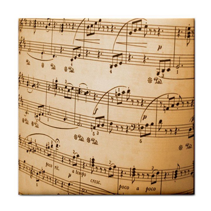 Music Notes Background Tile Coasters