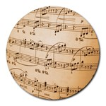 Music Notes Background Round Mousepads Front