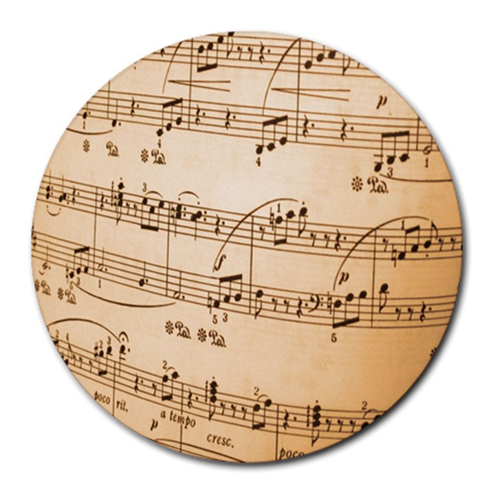 Music Notes Background Round Mousepads