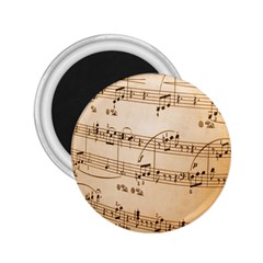 Music Notes Background 2.25  Magnets
