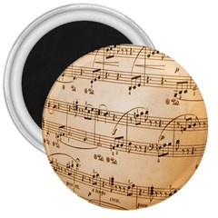 Music Notes Background 3  Magnets