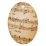 Music Notes Background Ornament (Oval)  Front