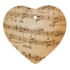 Music Notes Background Ornament (Heart)