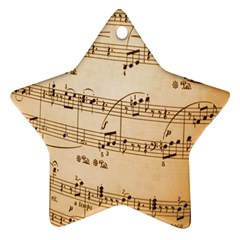 Music Notes Background Ornament (Star)