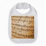 Music Notes Background Bib Front