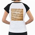 Music Notes Background Women s Cap Sleeve T Back