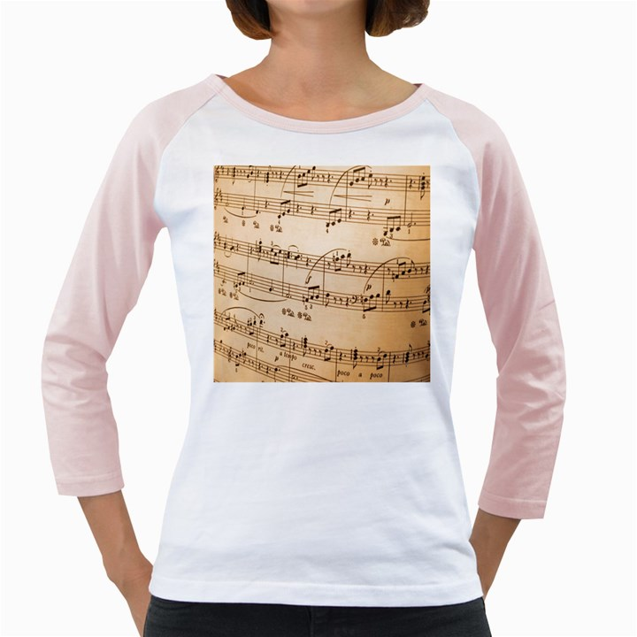 Music Notes Background Girly Raglans
