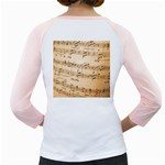Music Notes Background Girly Raglans Back