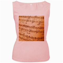 Music Notes Background Women s Pink Tank Top
