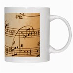 Music Notes Background White Mugs Right