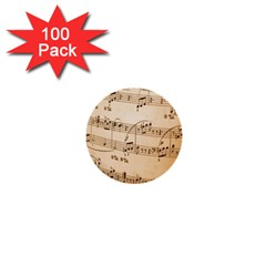 Music Notes Background 1  Mini Buttons (100 pack)