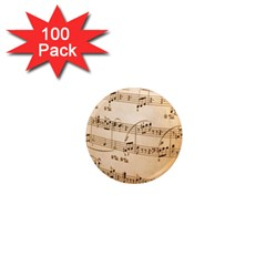 Music Notes Background 1  Mini Magnets (100 pack)