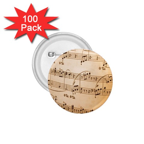 Music Notes Background 1.75  Buttons (100 pack)
