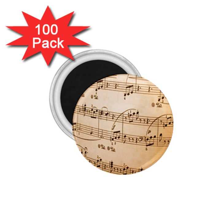 Music Notes Background 1.75  Magnets (100 pack)